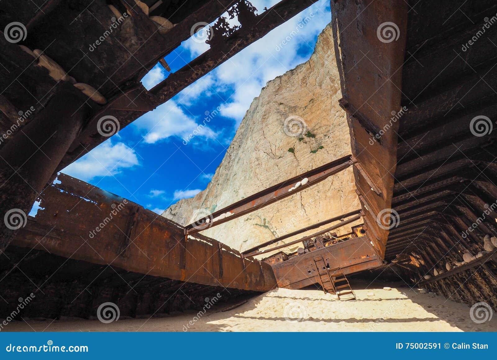 Panagiotis Shipwreck At Navagio Beach Zakynthos Greece Stock Photo - Image: 75002591