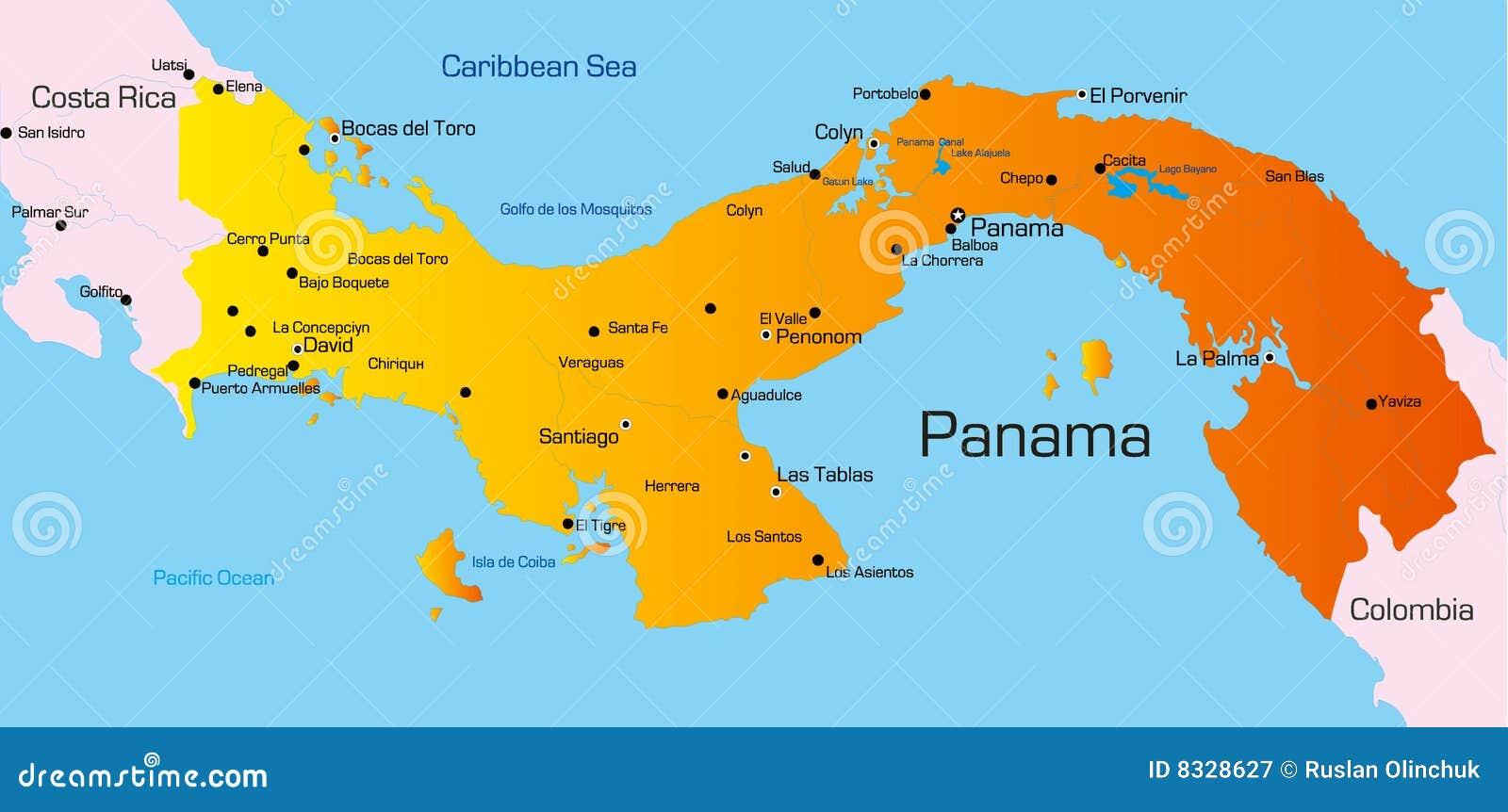 Mapa De Localização De Pontos De Vetor Localização De: Panamá Ilustración Del Vector. Ilustración De