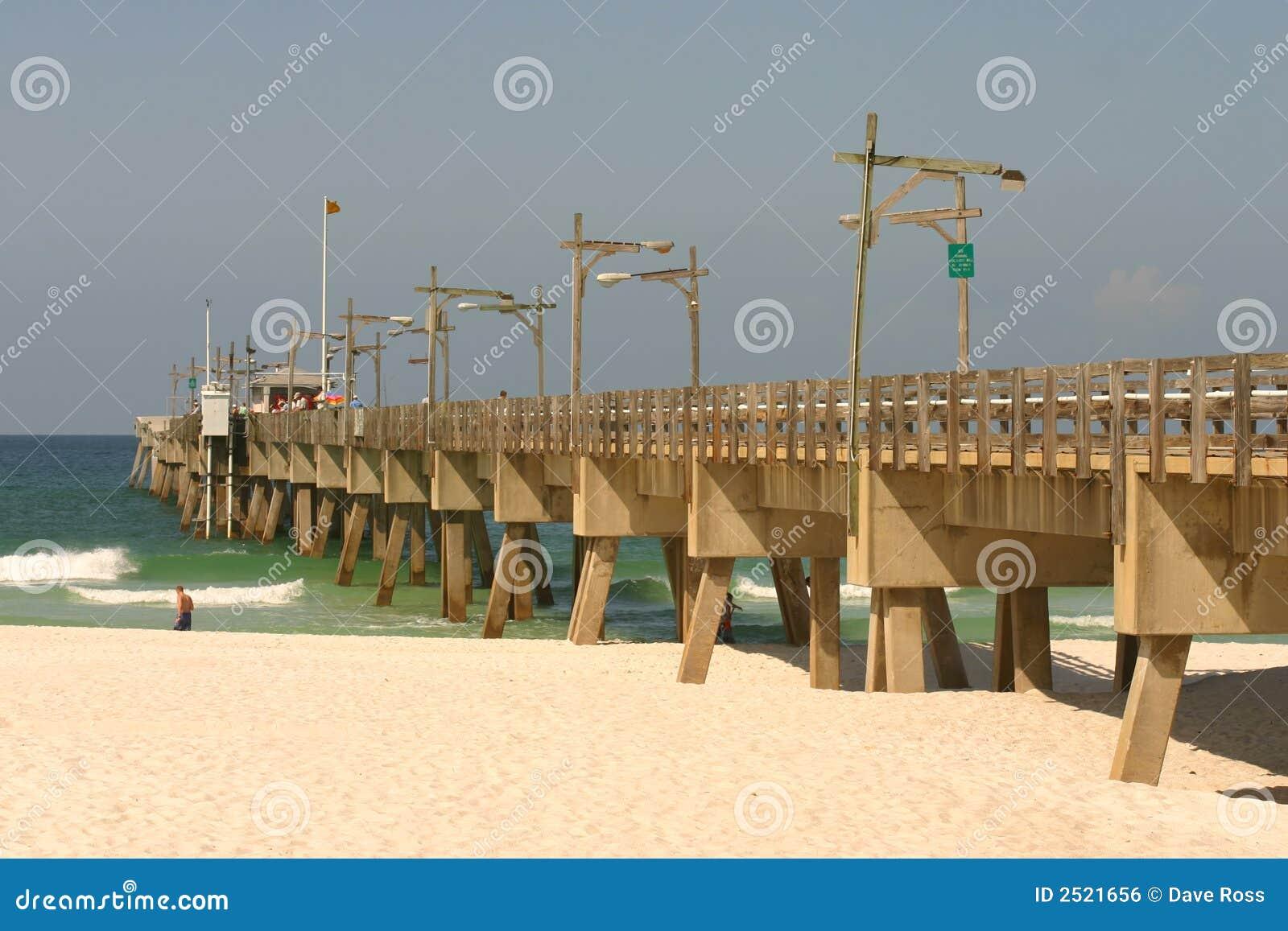 Panama city beach pier stock photo image of vacation for Panama city beach fishing pier
