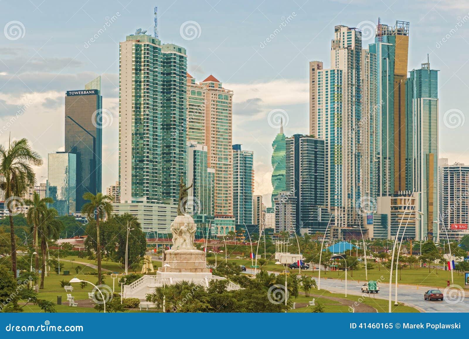 Panama City skyline.