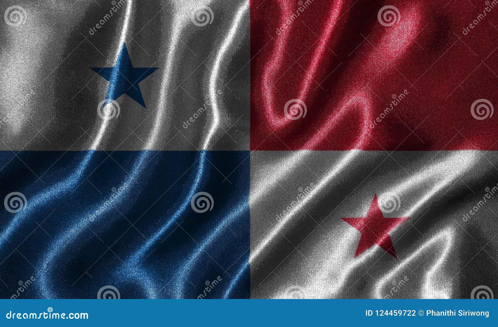 Panama flag and waving flag by fabric.