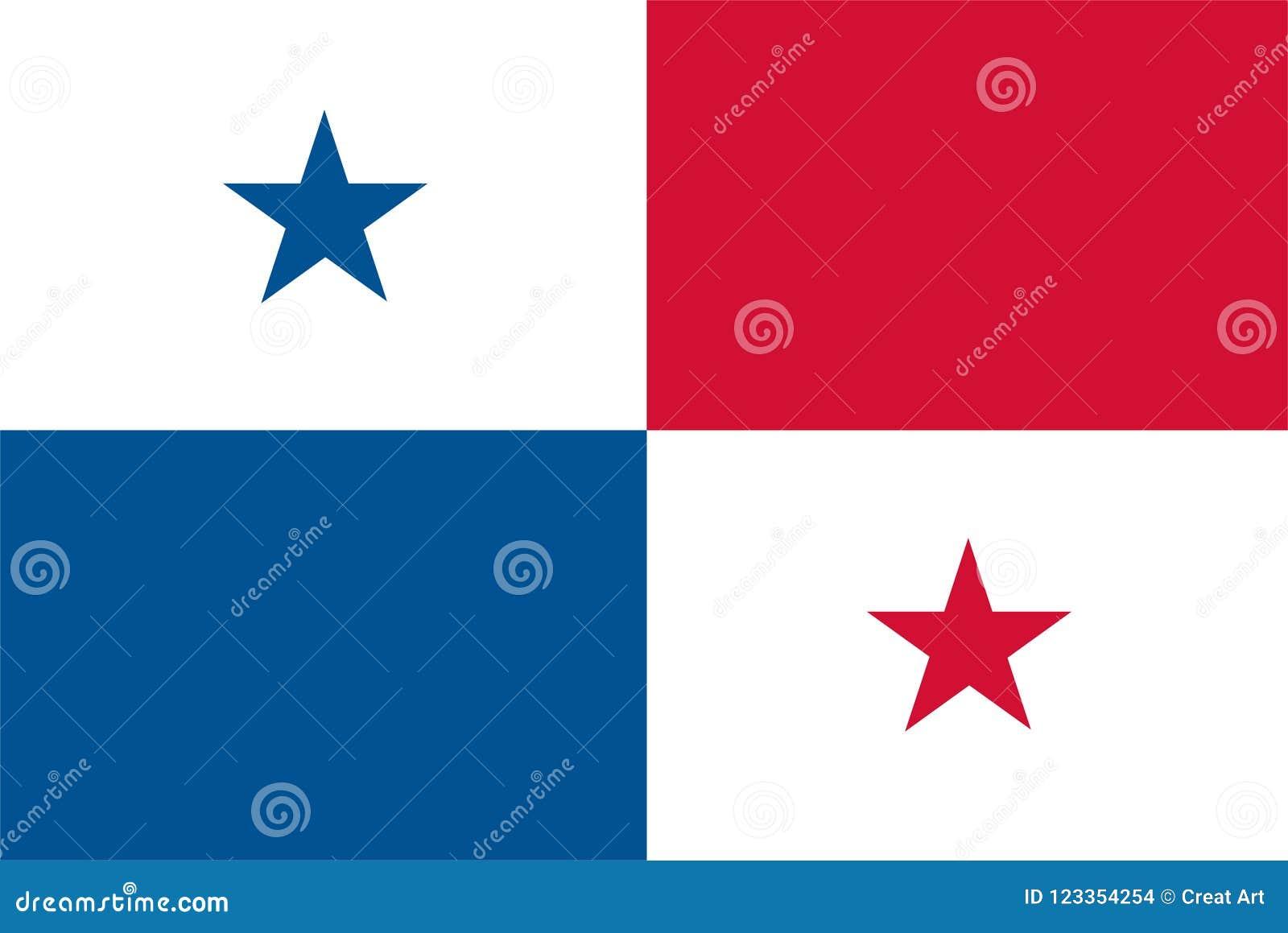 Panama flaggavektor Illustration av den Panama flaggan