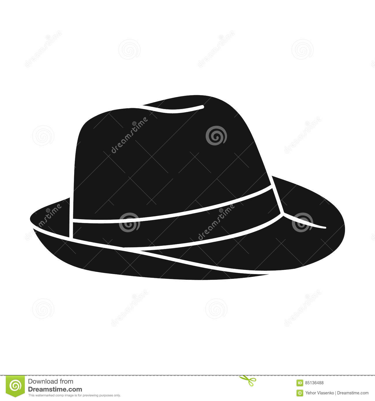 Panama Hat Icon In Black Style Isolated On White Background Surfing