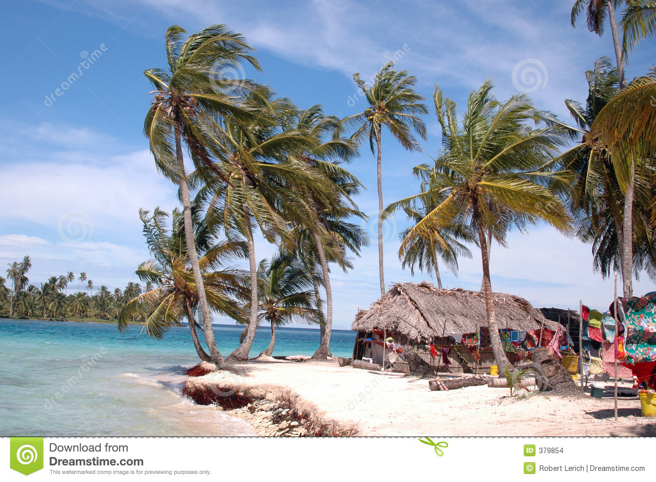 Panama Kuna Indian House On Island Stock Photo - Image of ...
