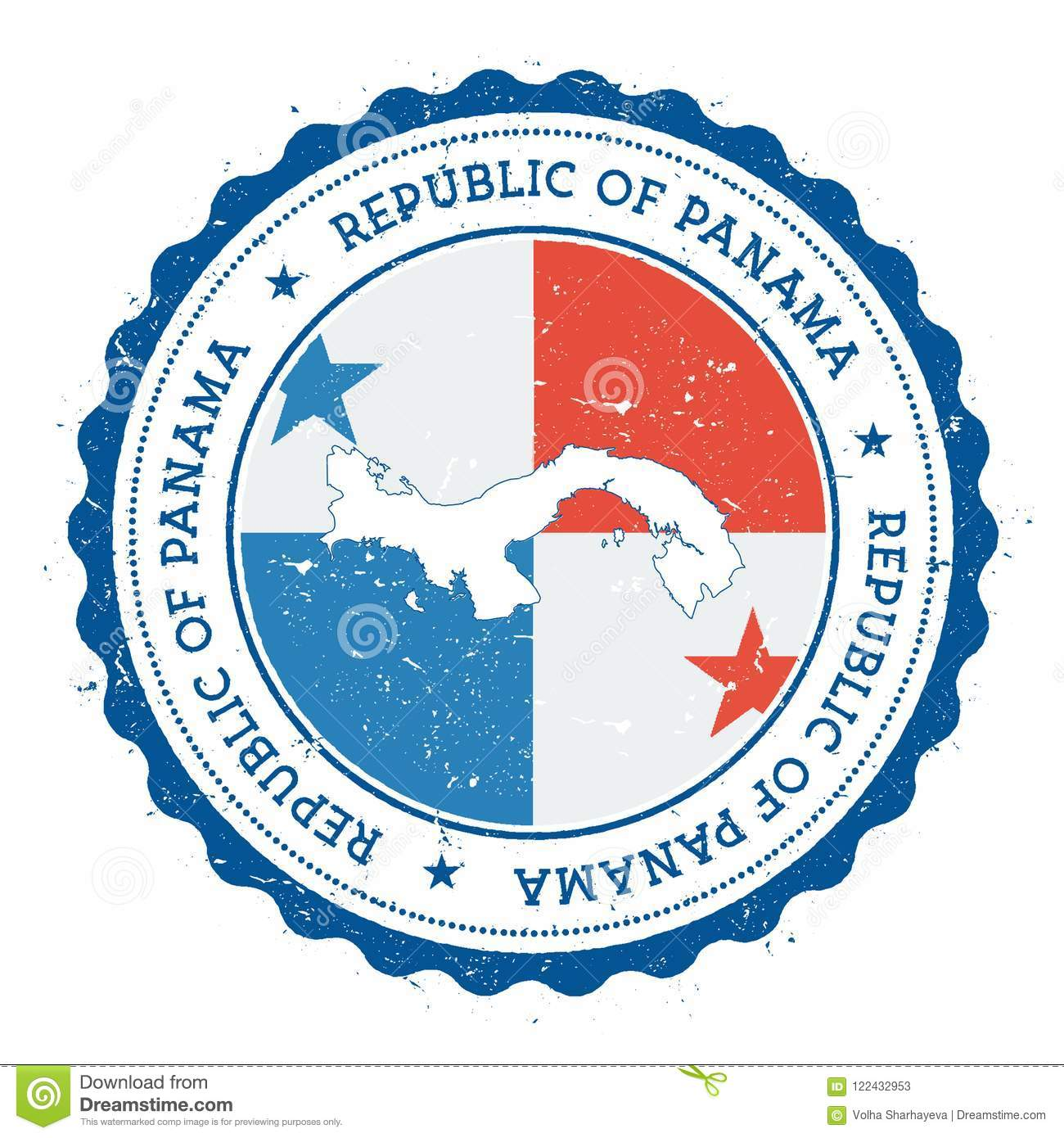 f84697d5 Panama Map And Flag In Vintage Rubber Stamp Of. Stock Vector ...