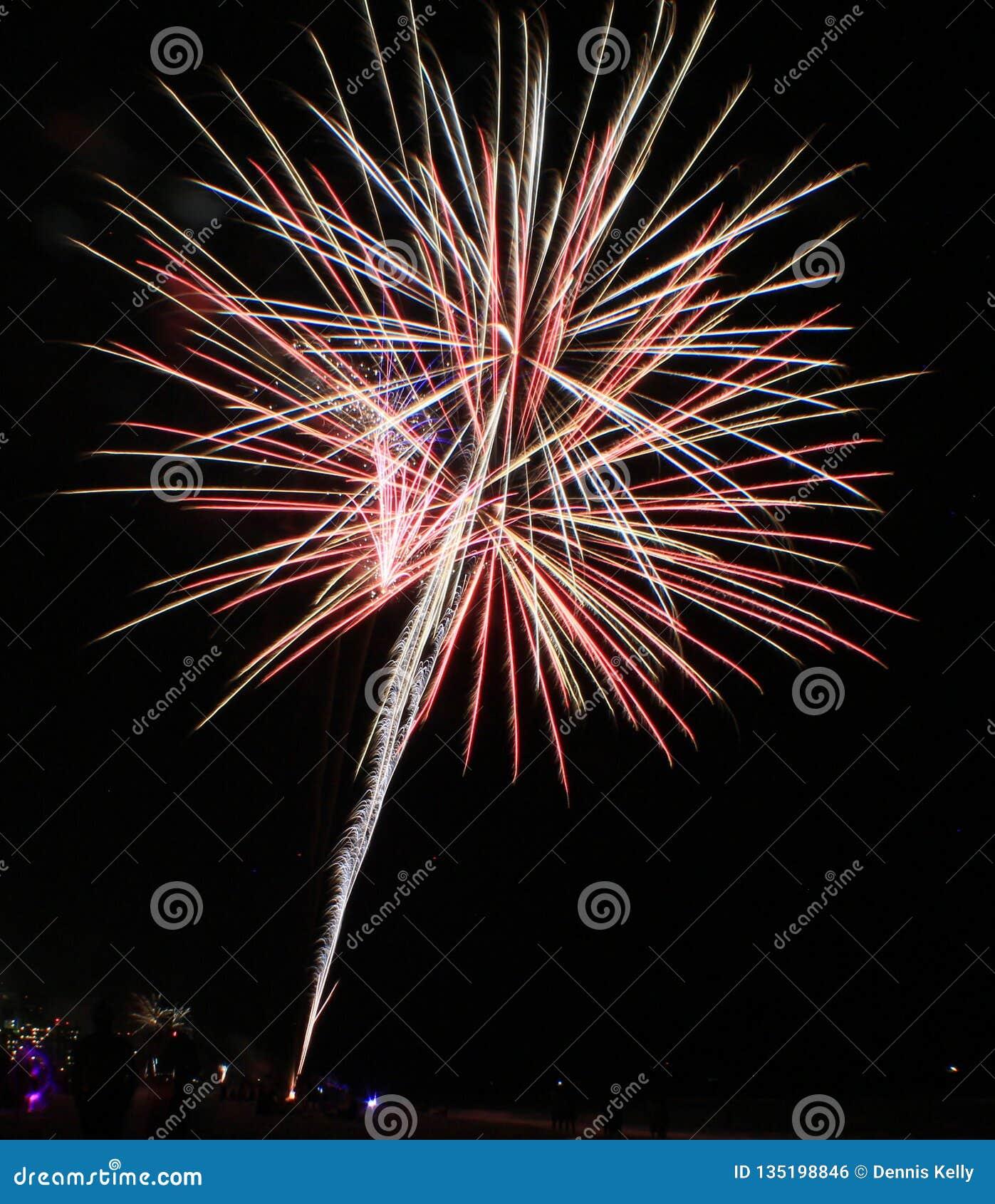 Panama-Stadt Strandflorida-FeuerwerksZeitspanne