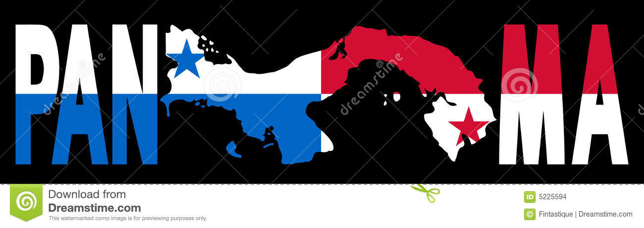 Panama Text With Map And Flag Stock Vector Image - Panama flags