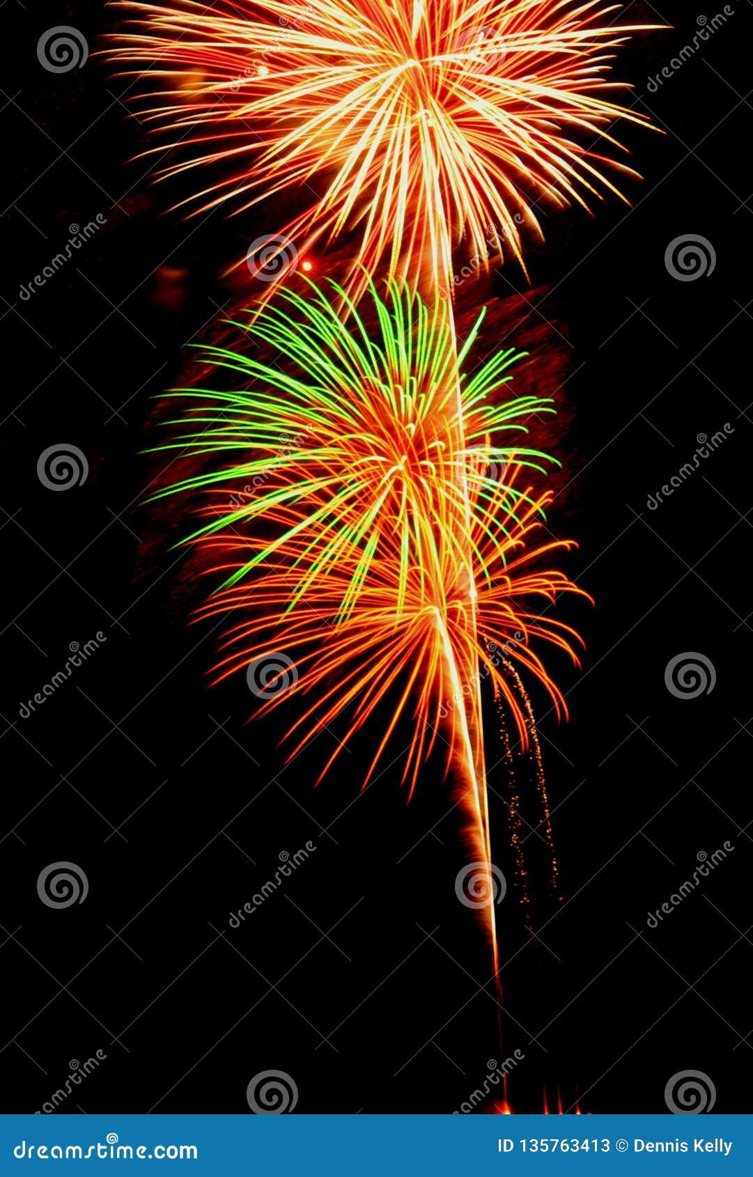 Panamskie miasto plaży fajerwerków Florida świętowania pirotechnika