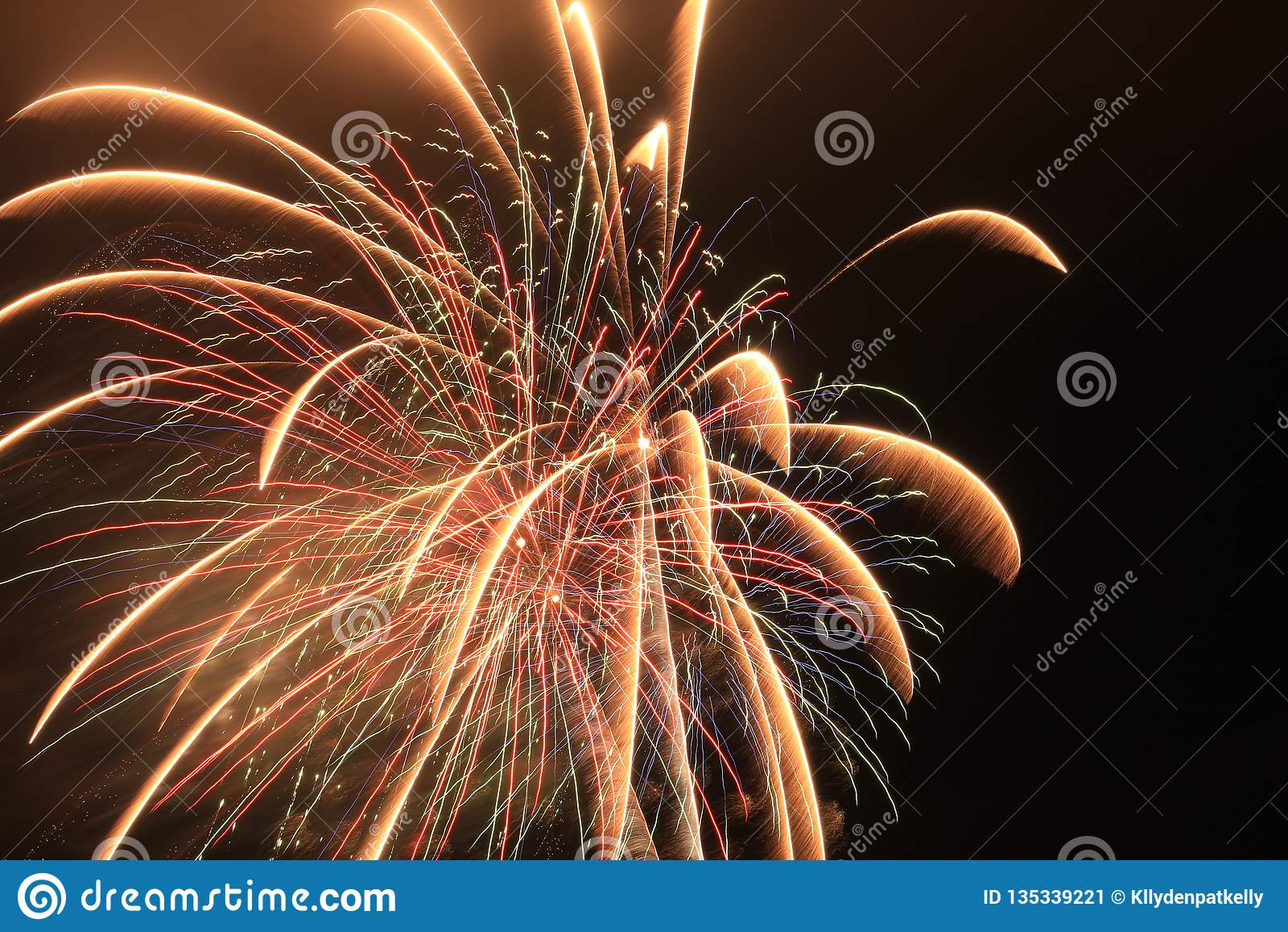 Panamskie miasto plaży Florida fajerwerków czasu upływu świętowania pirotechnika