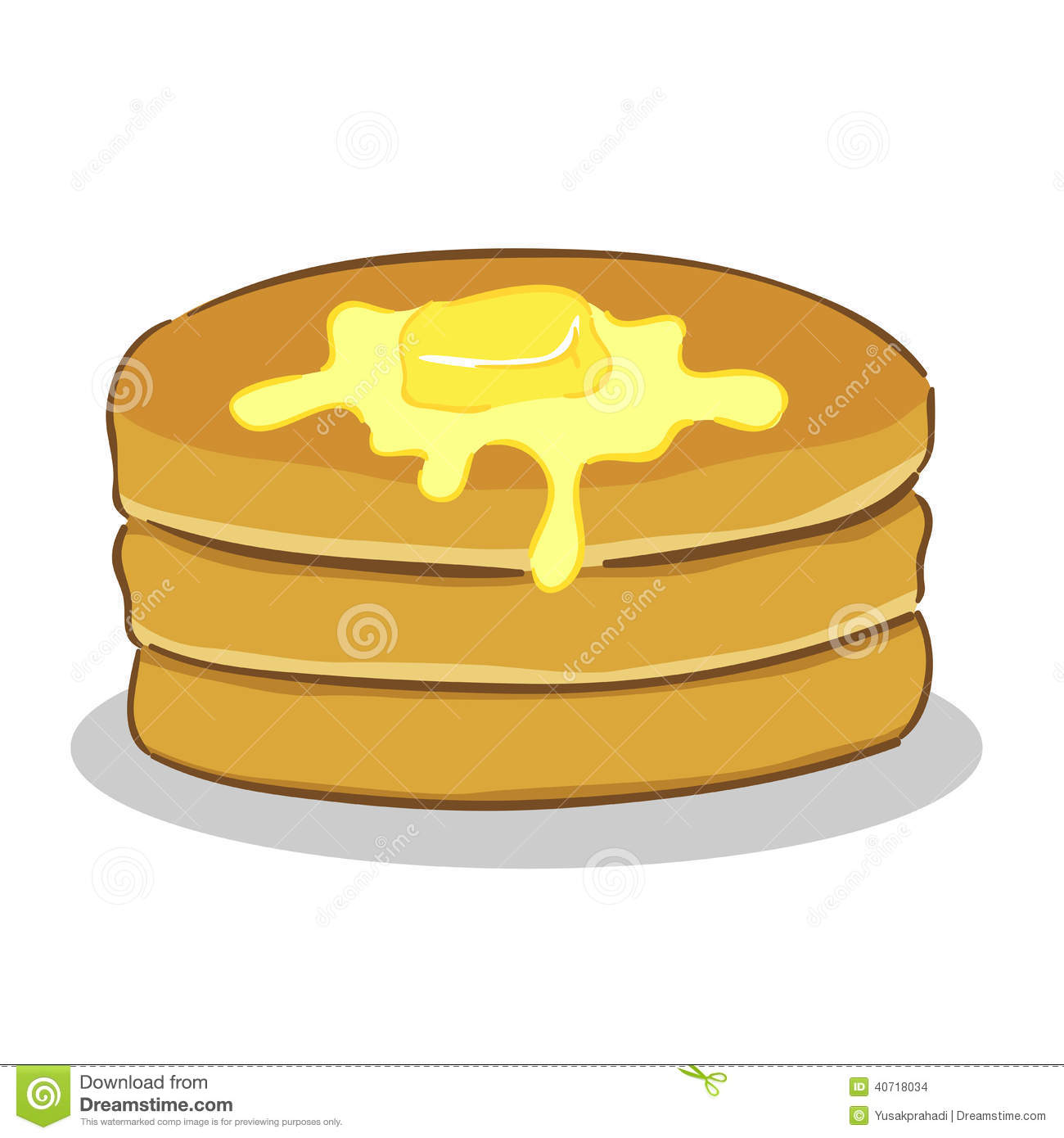 Pancake with butter stock vector. Image of hotcakes ...