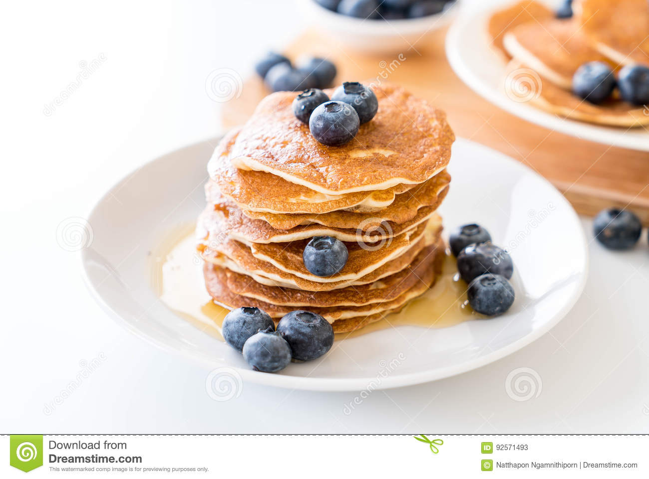 Pancake con il mirtillo