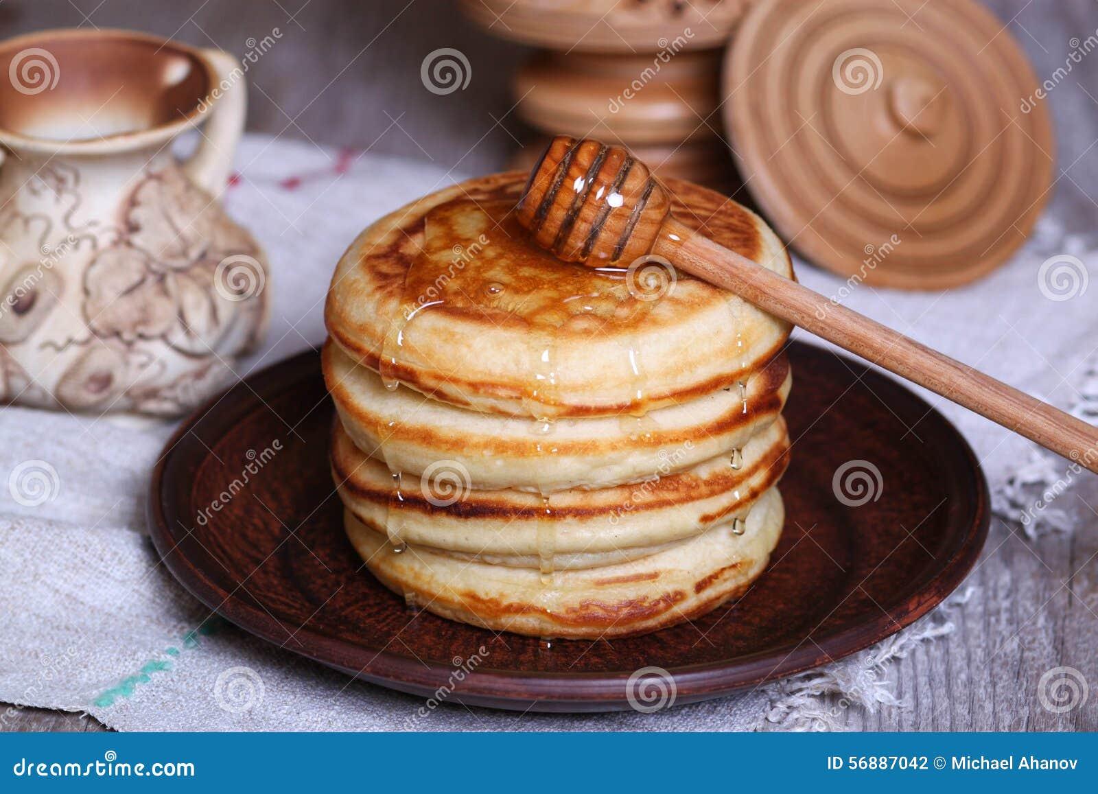 Pancake con miele
