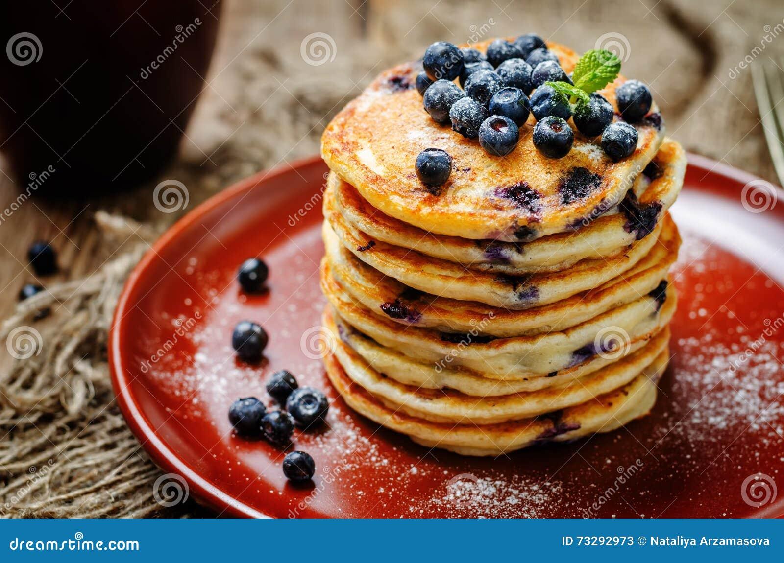 Pancake di ricotta del mirtillo