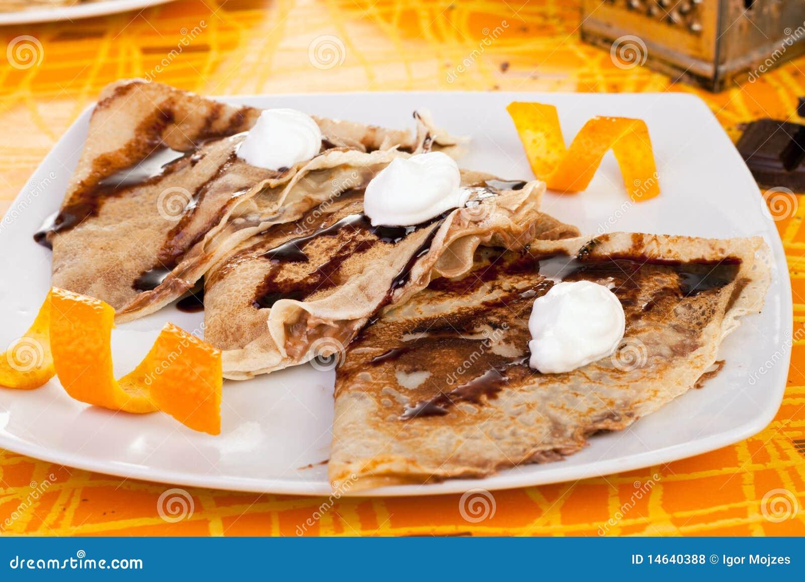 pancake dolci con l 39 arancio fotografia stock immagine di antipasto fame 14640388. Black Bedroom Furniture Sets. Home Design Ideas
