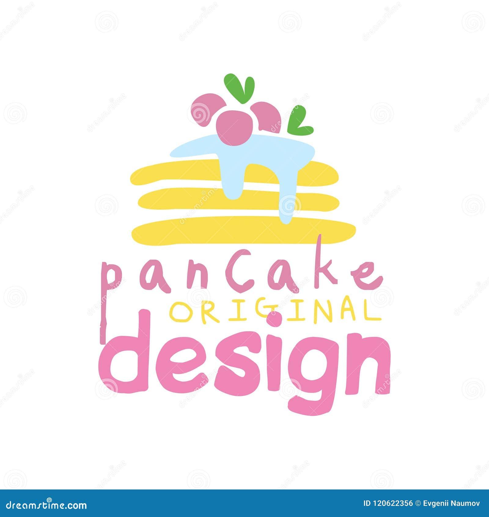 Pancake Original Logo Design, Emblem For Confectionery