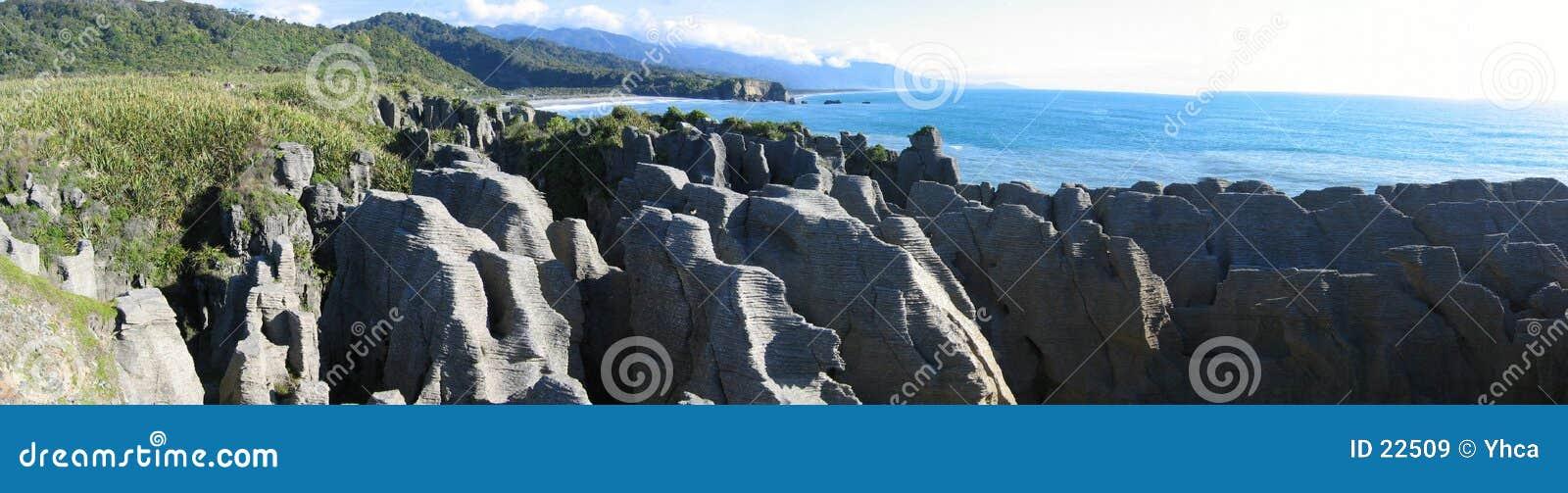 Pancake Rocks Background