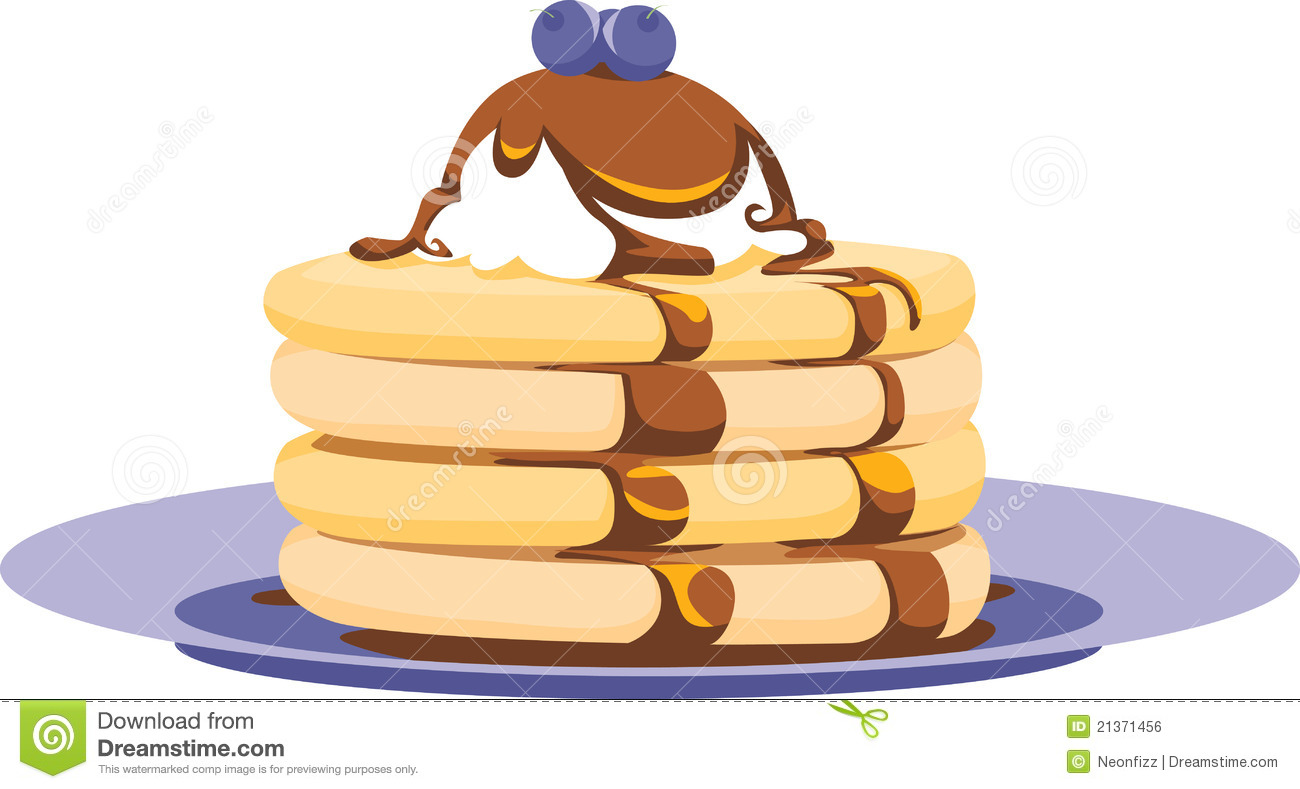 Pancake Stack Illustration Stock Vector Image Of Morning