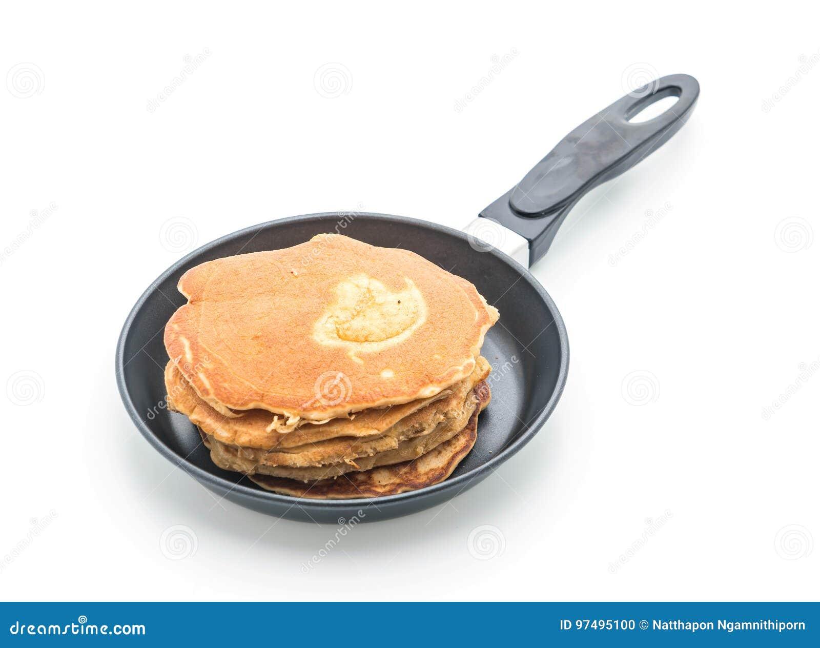 Pancake su fondo bianco