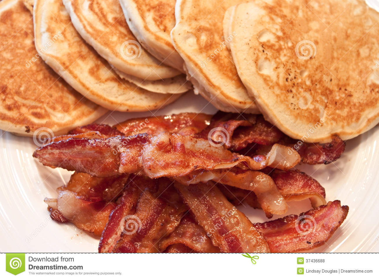 pancake and bacon breakfast - photo #7