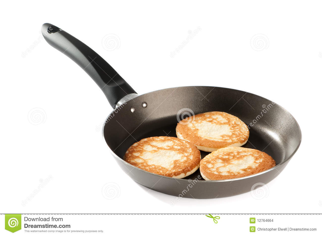 Pancakes In Frying Pan Stock Photo Image Of Style