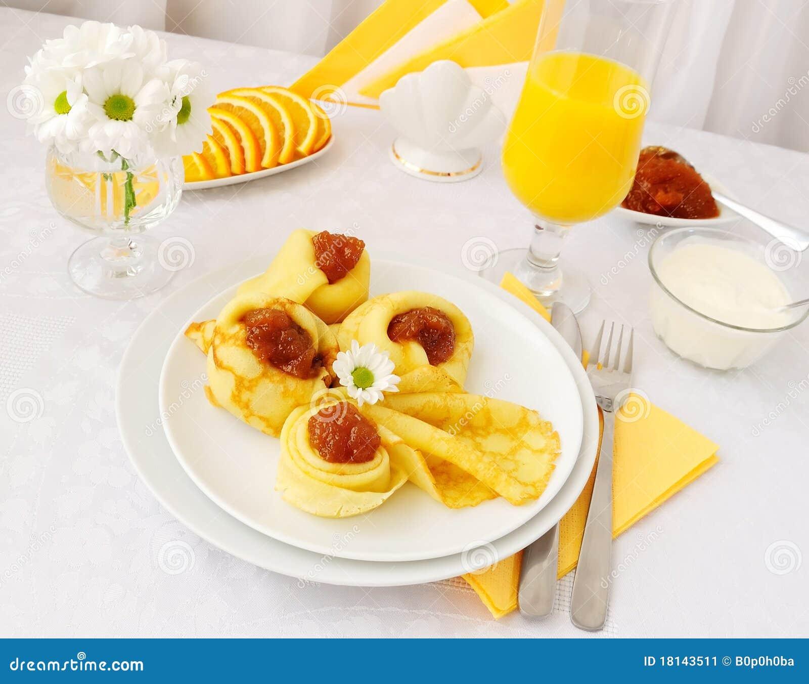 Download Pancakes with jam stock image. Image of juice, food, vitamins - 18143511