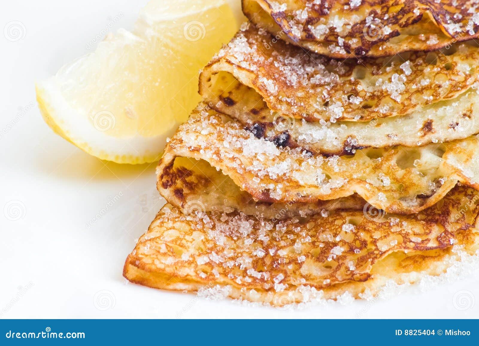 Pancakes with lemon