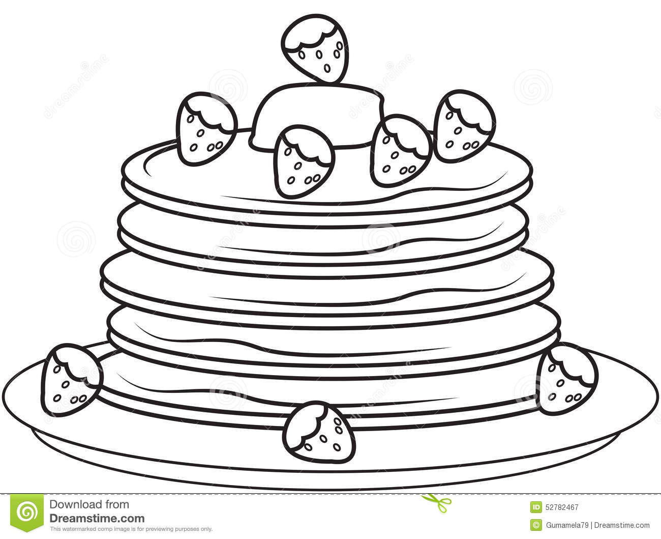 Pancakes coloring page pages sketch coloring page for If you give a pig a pancake coloring pages
