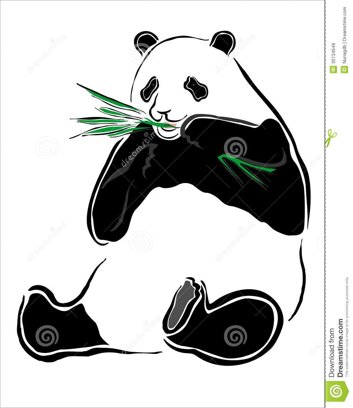 Panda Avec Le Bambou Illustration De Vecteur Illustration Du