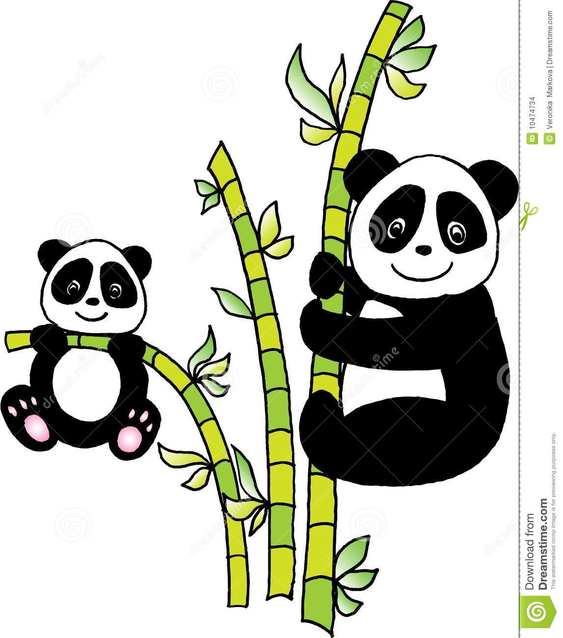 Panda With Bamboo Stock Images Image 10474734