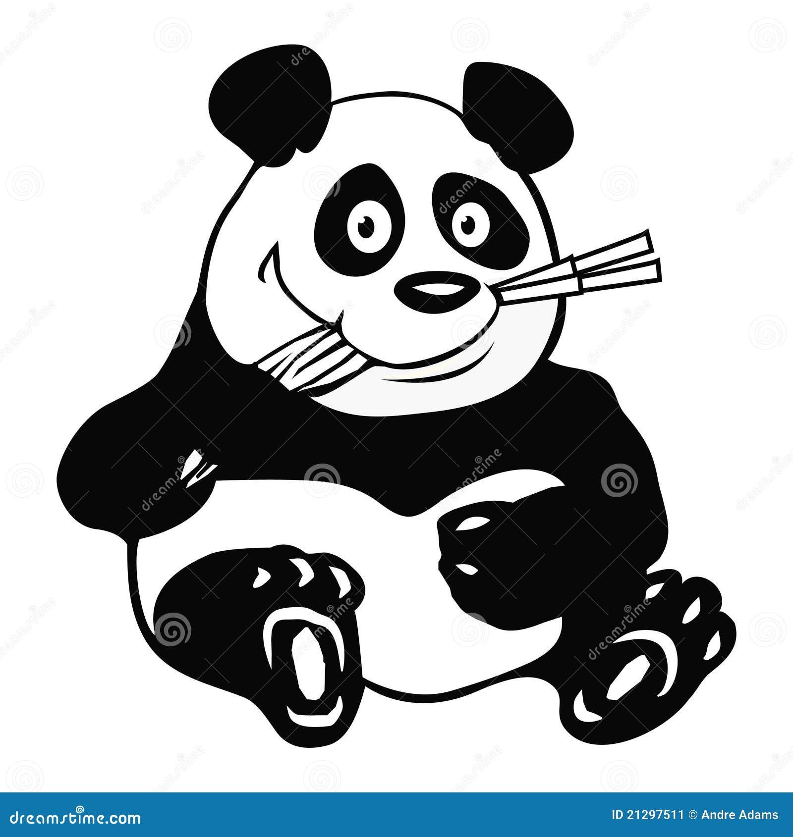 Panda Bamboo Outline Stock Image Image 21297511