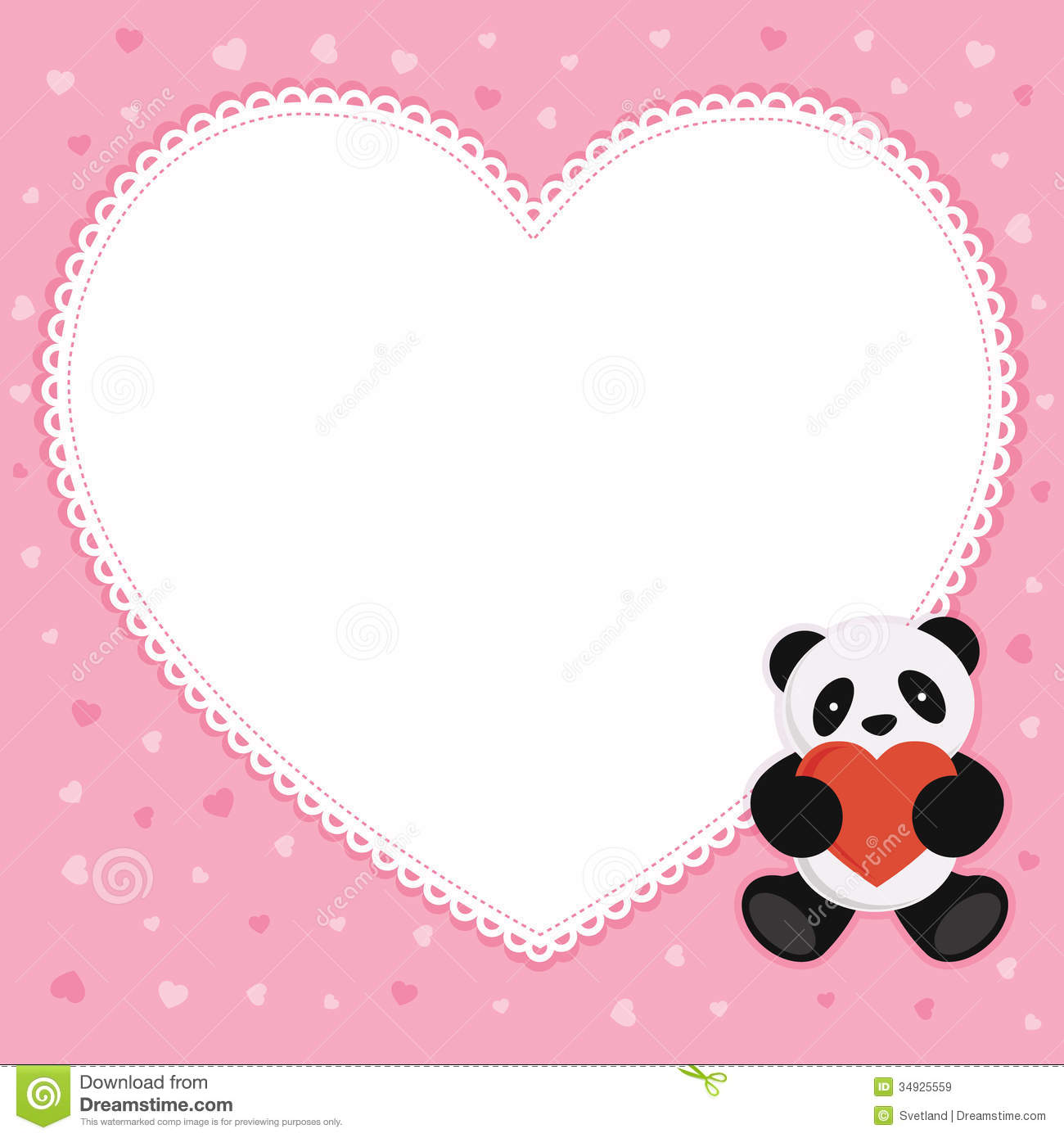 Panda Bear With Red Heart Royalty Free Stock Images