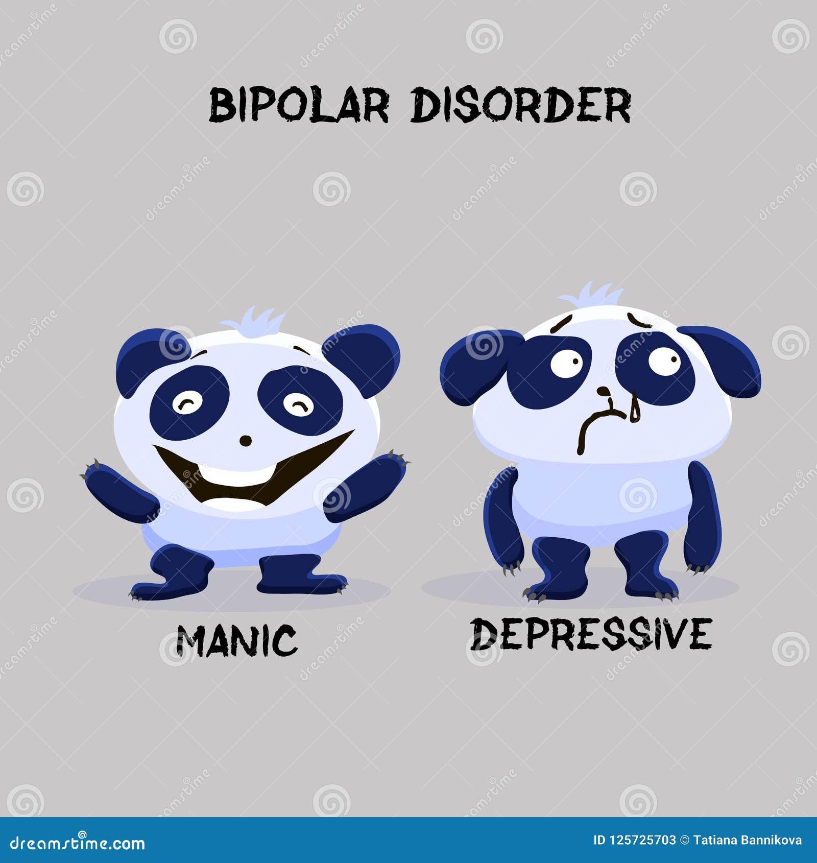 Panda bipolaire de trouble mental de double personnalité Santé mentale