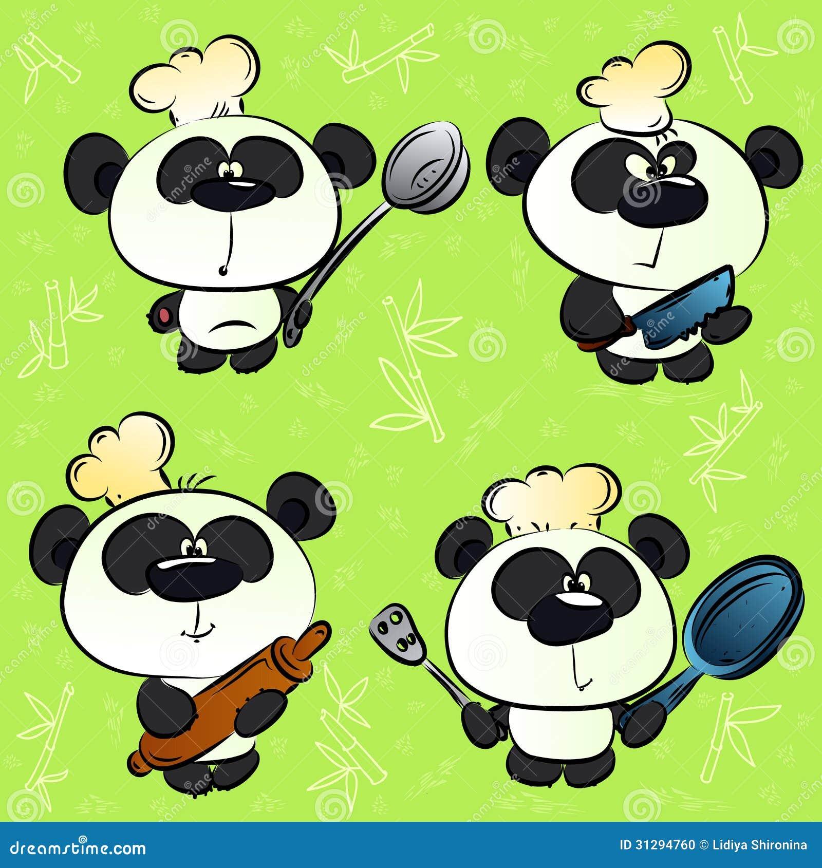 Panda Chef Stock Illustration. Image Of Herbivorous