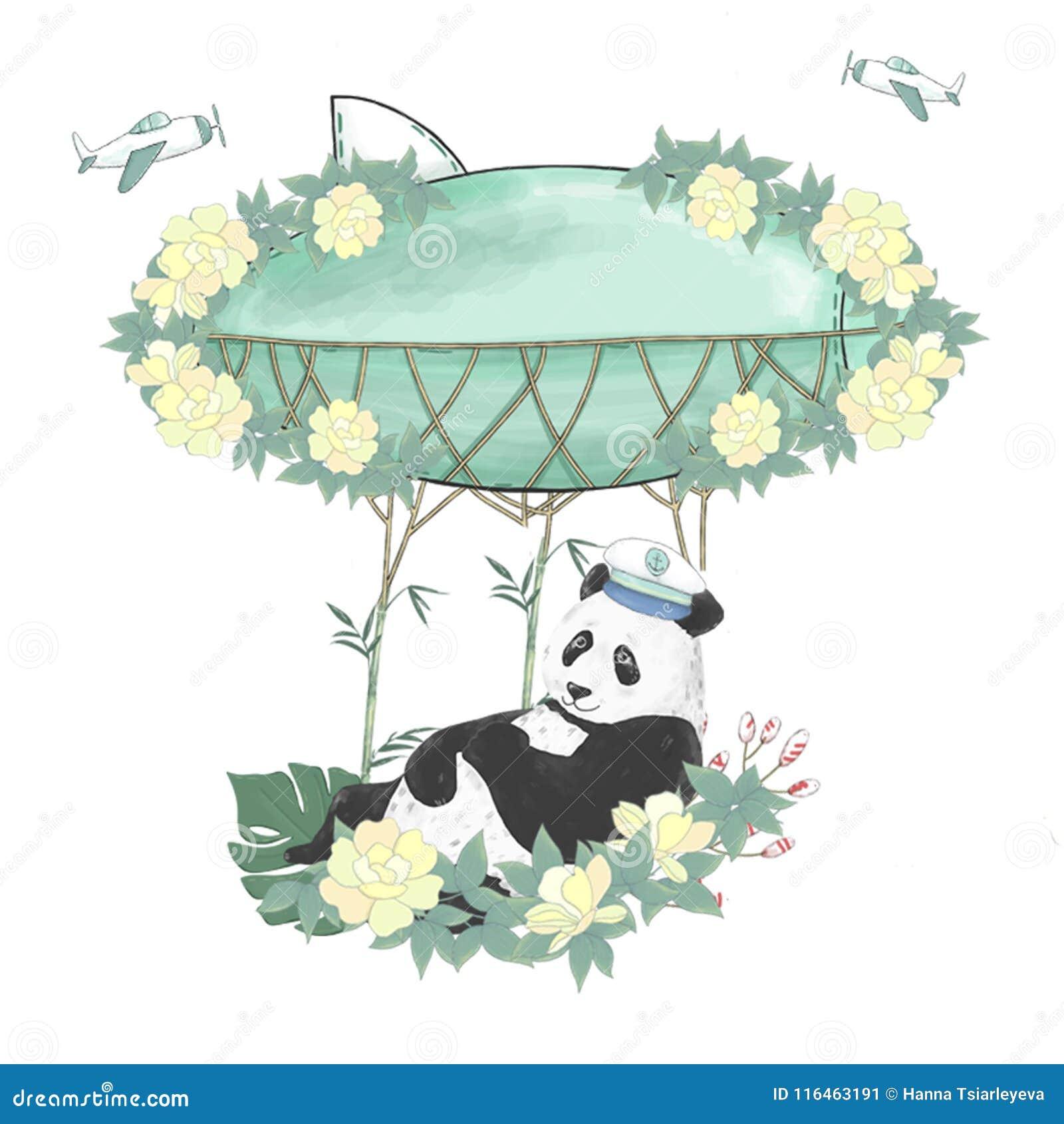 Cute fun panda Clipart   k35291310   Fotosearch
