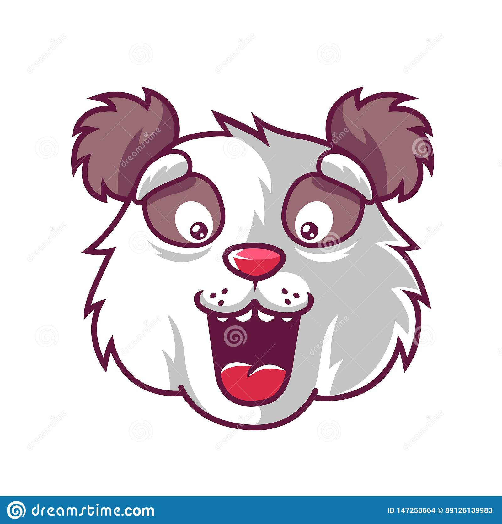 Panda d amusement de museau