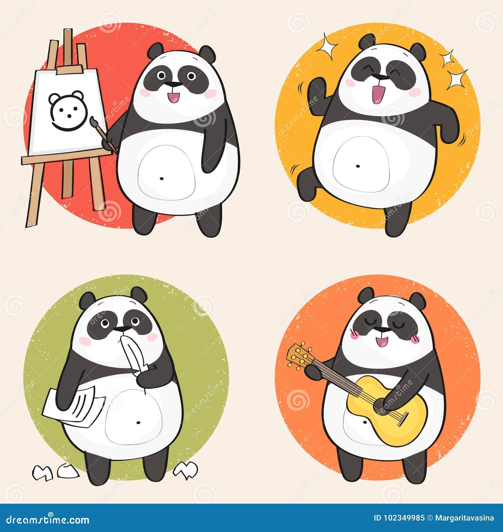 Panda de dessin animé