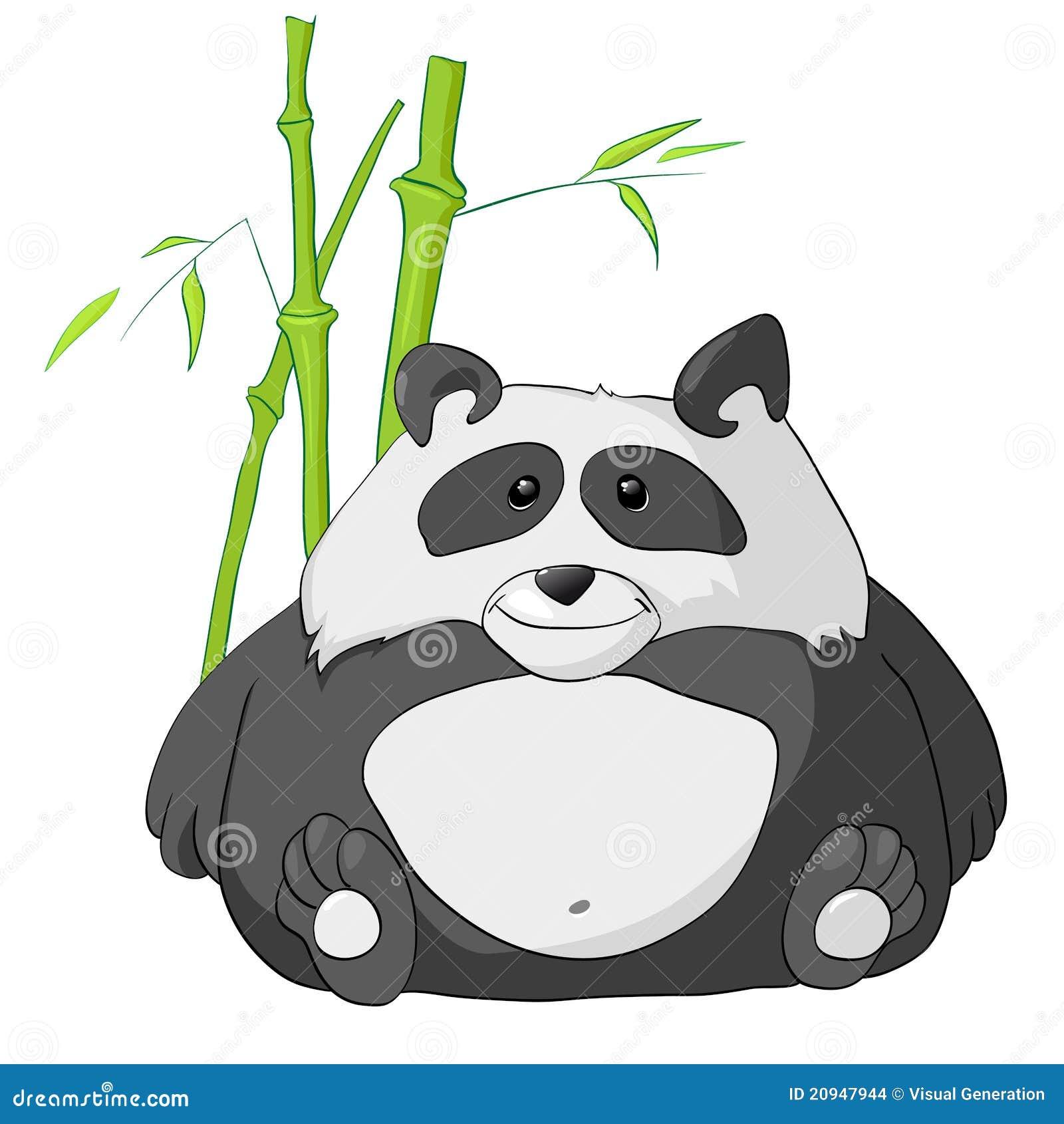 panda del personaje de dibujos animados ilustración del vector