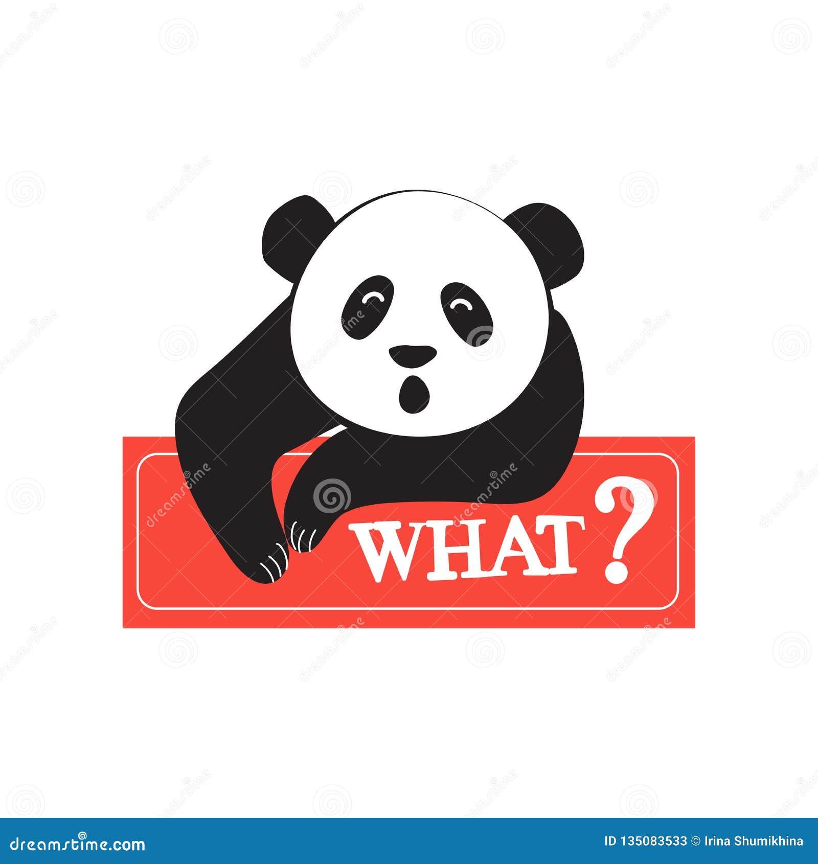 Panda fresca en el estilo de los tebeos Diseño para la etiqueta engomada, remiendo, cartel, diario personal Moda para los adolesc