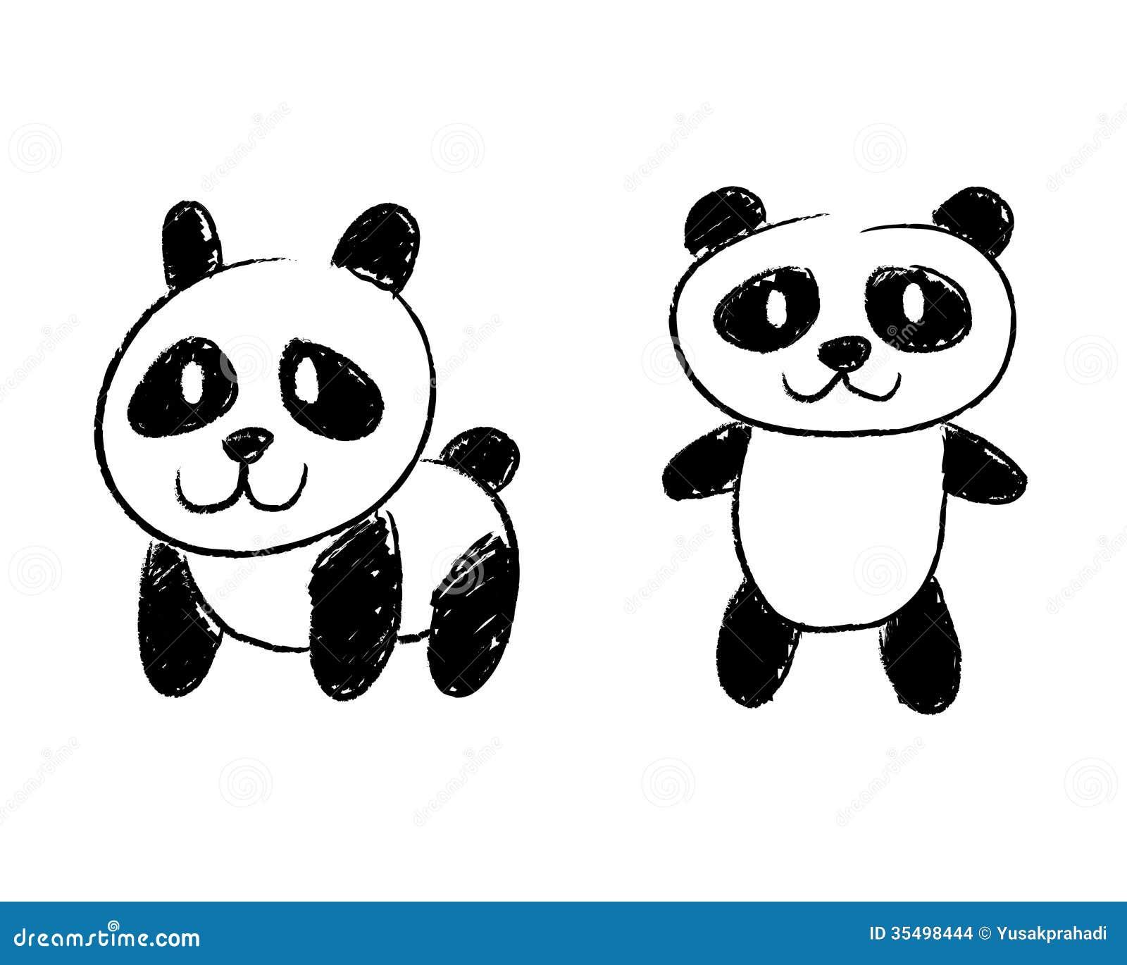 Panda Hand Drawing Stock Images Image 35498444