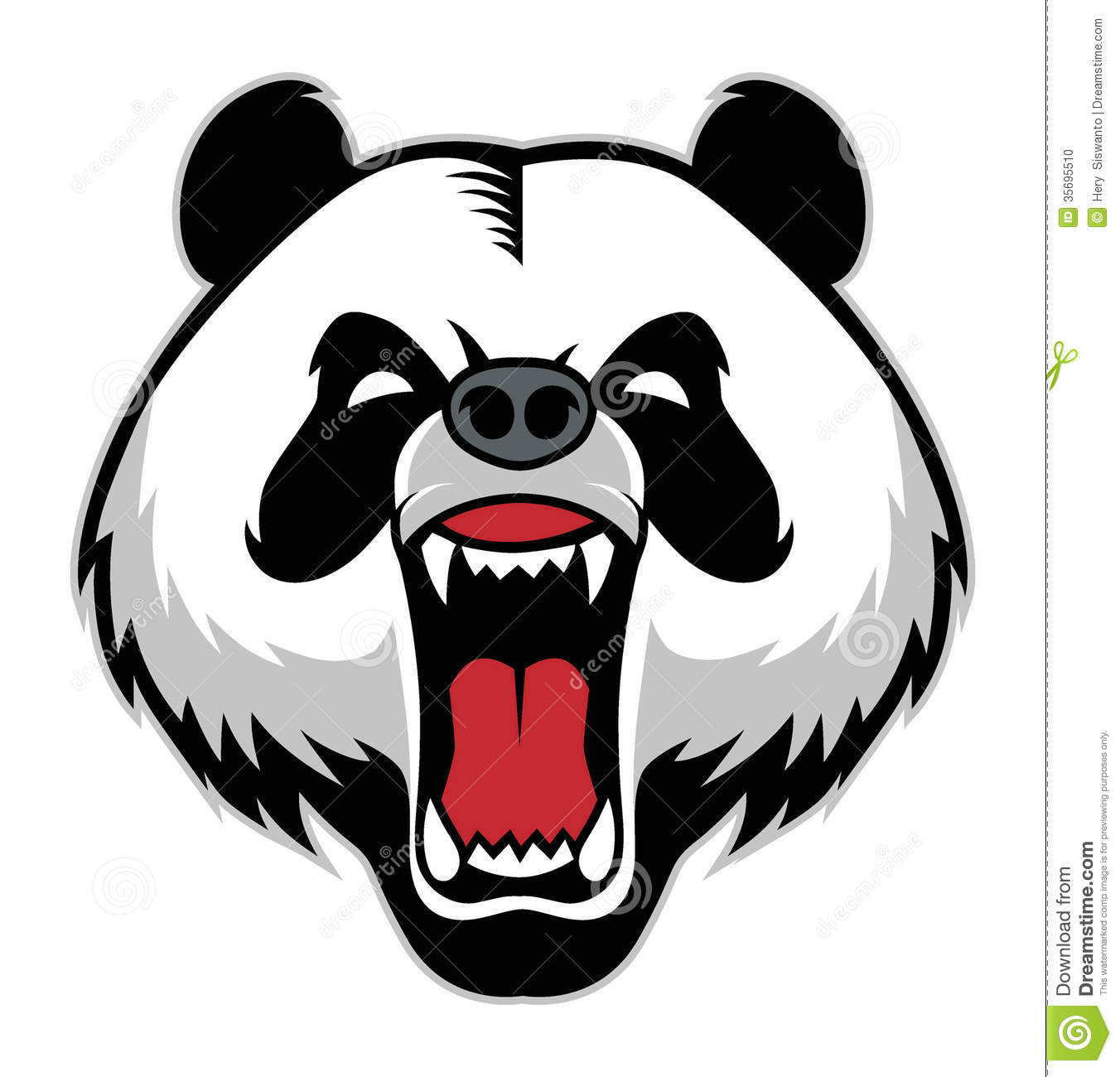 panda head mascot stock photo image 35695510