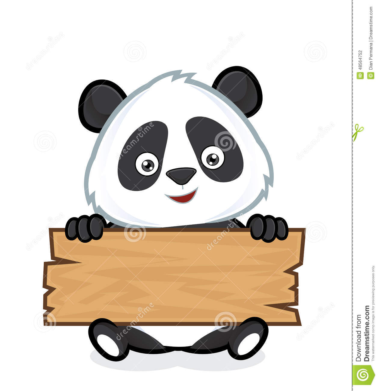 panda holding a plank of wood stock vector image 48564752 Colorful Owl Clip Art Colorful Owl Clip Art