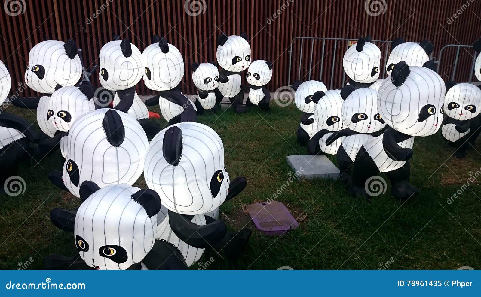 Panda lanterns - Chinese New Year Lantern Festival