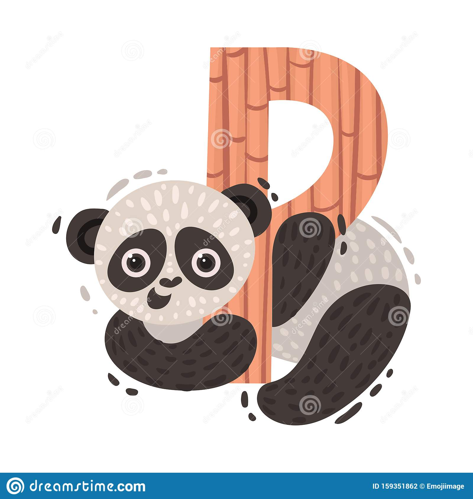 Gallery Panda And Letter P. Vector Illustration On A White Background ... is free HD wallpaper.