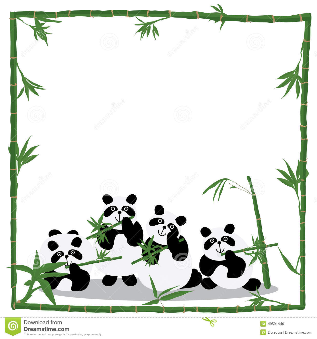 Illustration family panda love bamboo abstract panda inside bamboo ...