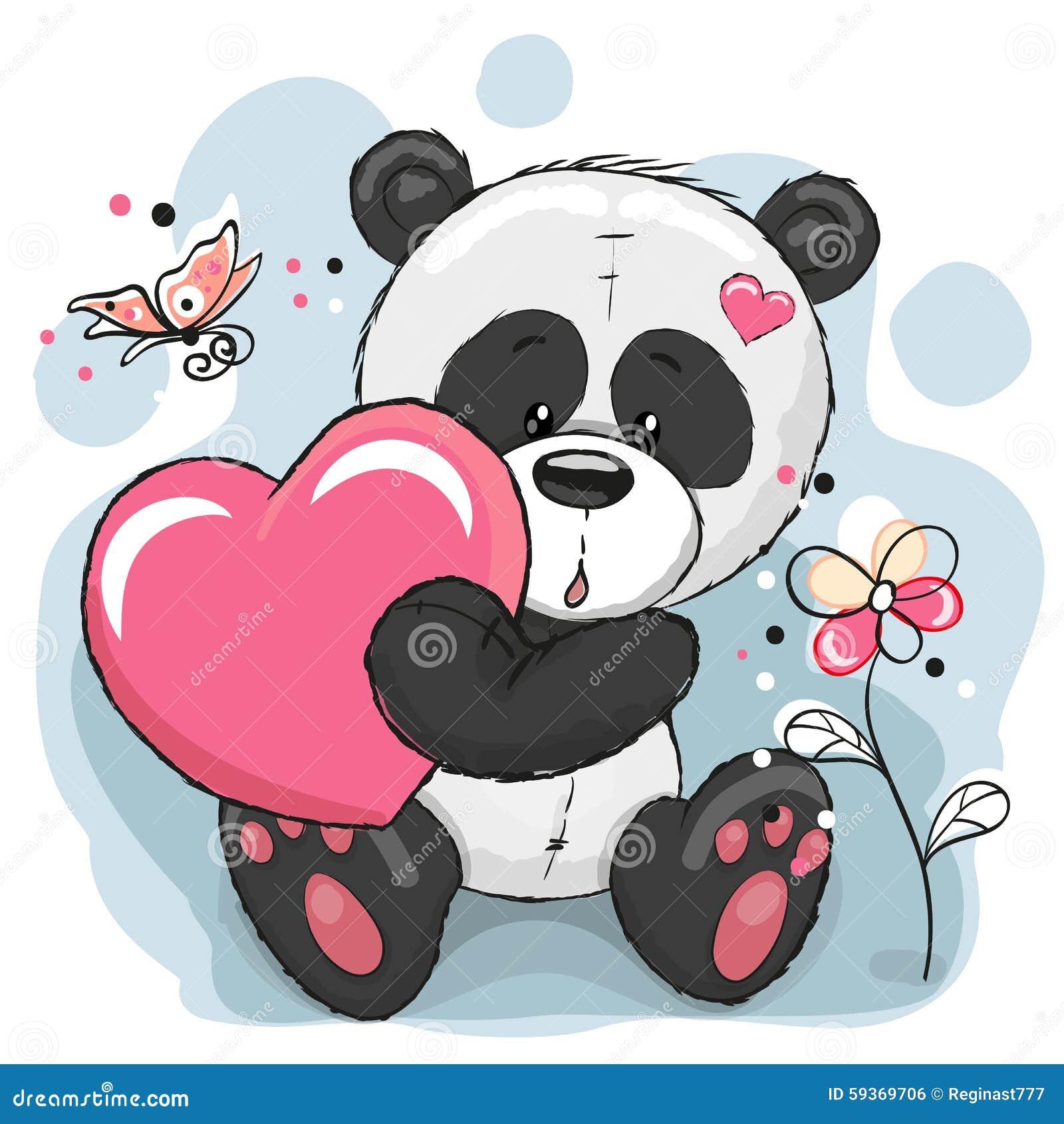 Panda met hart