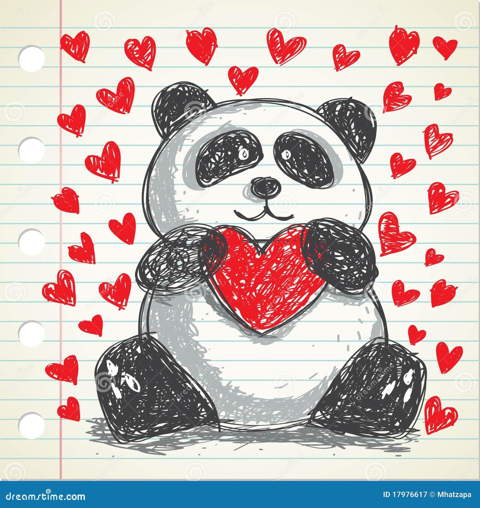panda mignon illustration stock illustration du moirage 17976617. Black Bedroom Furniture Sets. Home Design Ideas
