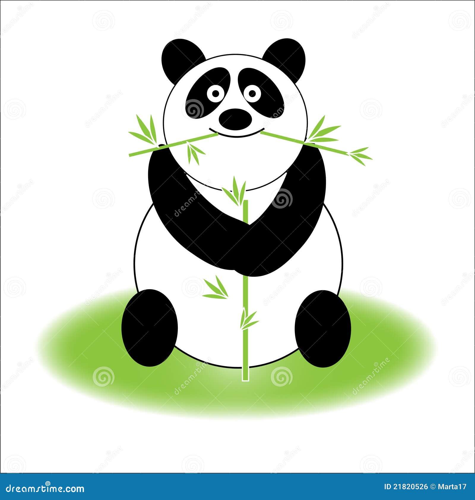 panda mignon image libre de droits image 21820526. Black Bedroom Furniture Sets. Home Design Ideas