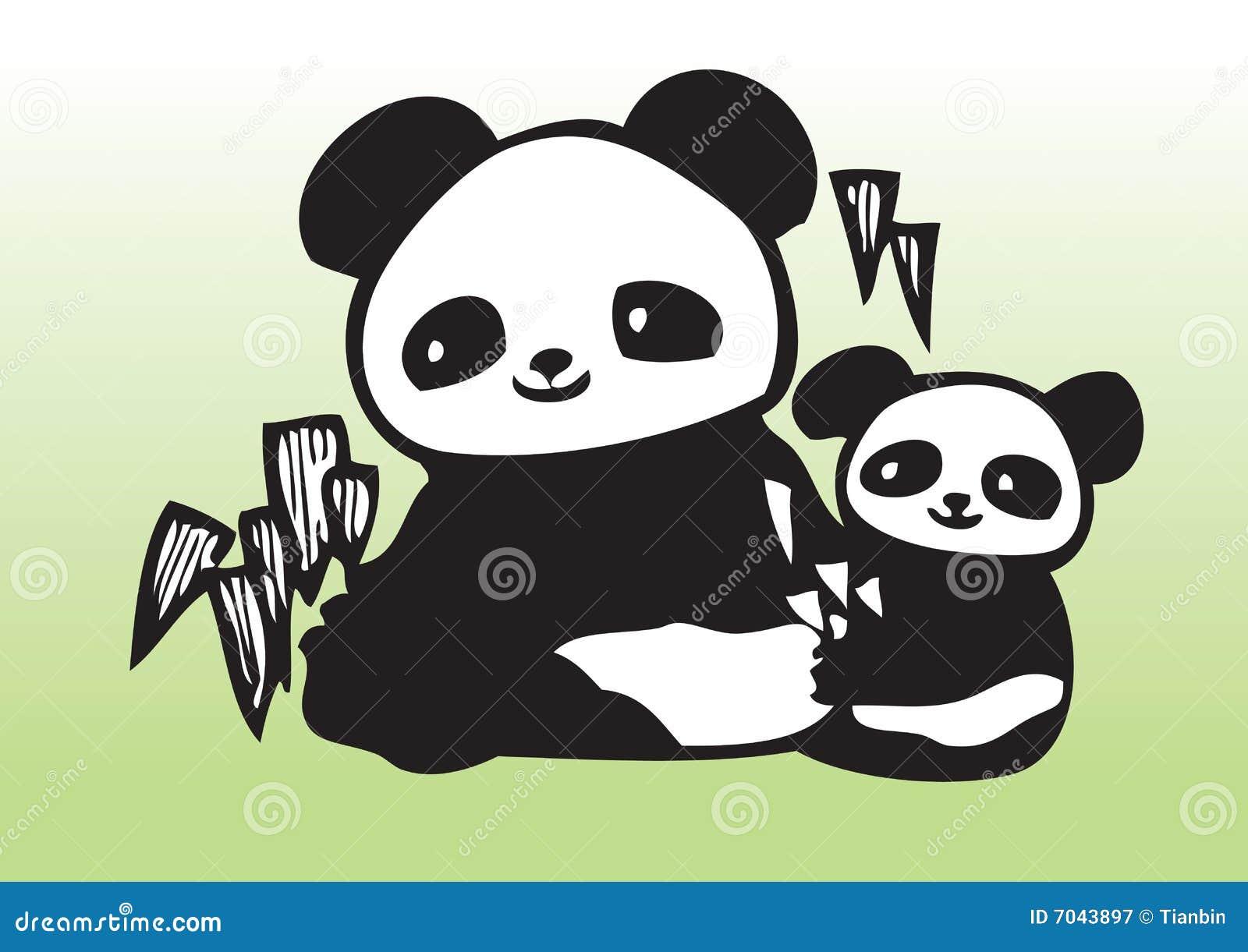 Panda mignon de chéri