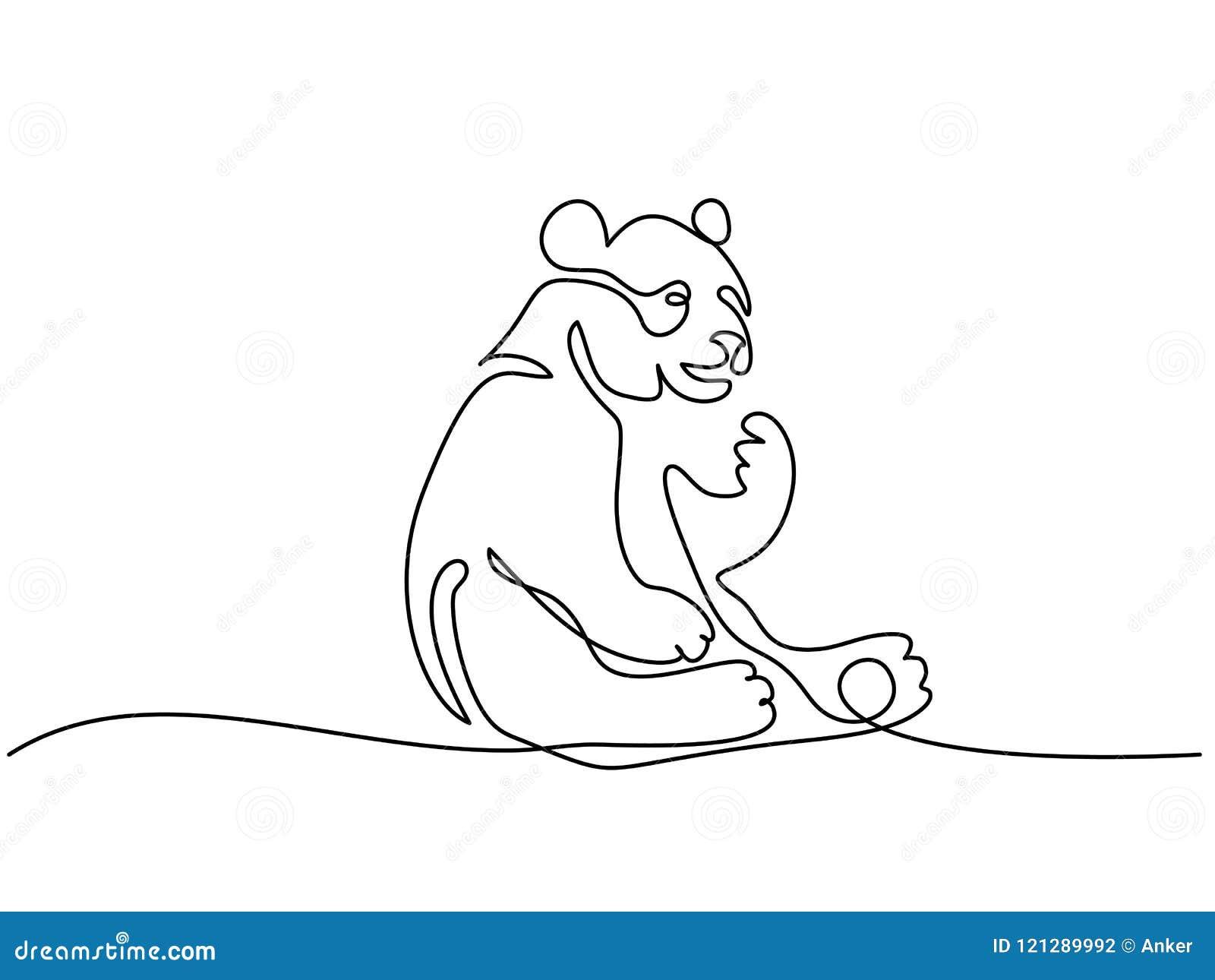Panda niedźwiedzia symbol