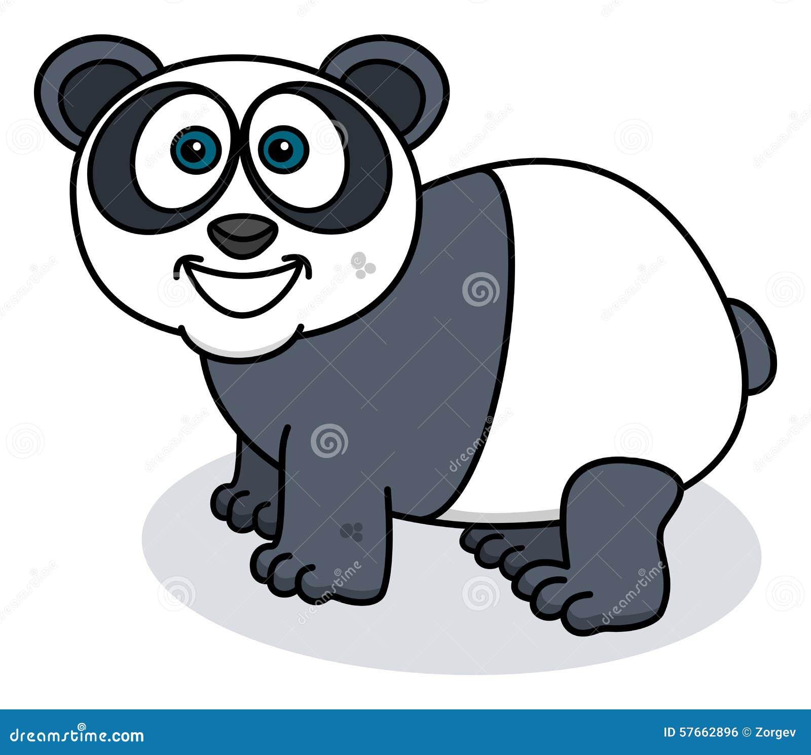 Panda ono uśmiecha się na profilu